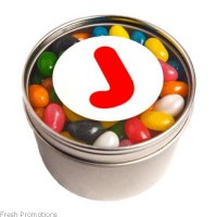 Round Tins With Jelly Beans