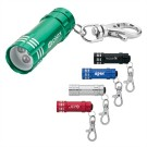 LED Flashlight with Lobster Clip Keyring