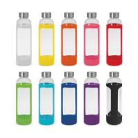 Glass Drink Bottle With Silicone Sleeve