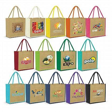 Monza Jute Tote Bags Colour Range