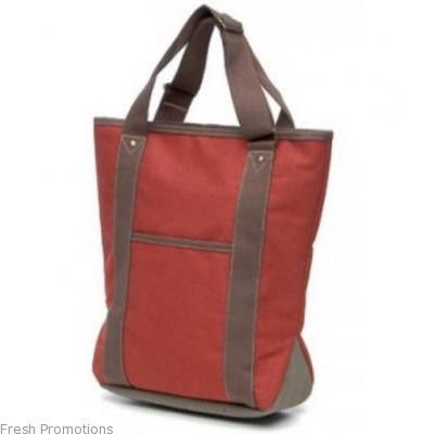 Tote With Contrast Handles