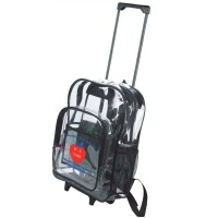 The Clear Wheeled Backpack