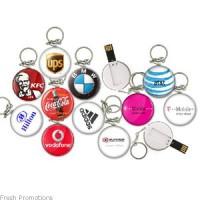 Button Keyring Flash Drives