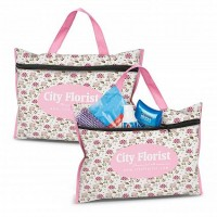Colour Printed Cotton Toiletry Bag
