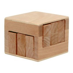 Wooden Sliding Cube Puzzle