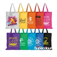 Coloured Calico Bags