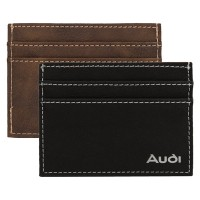 Suede Leatherette Card Wallet