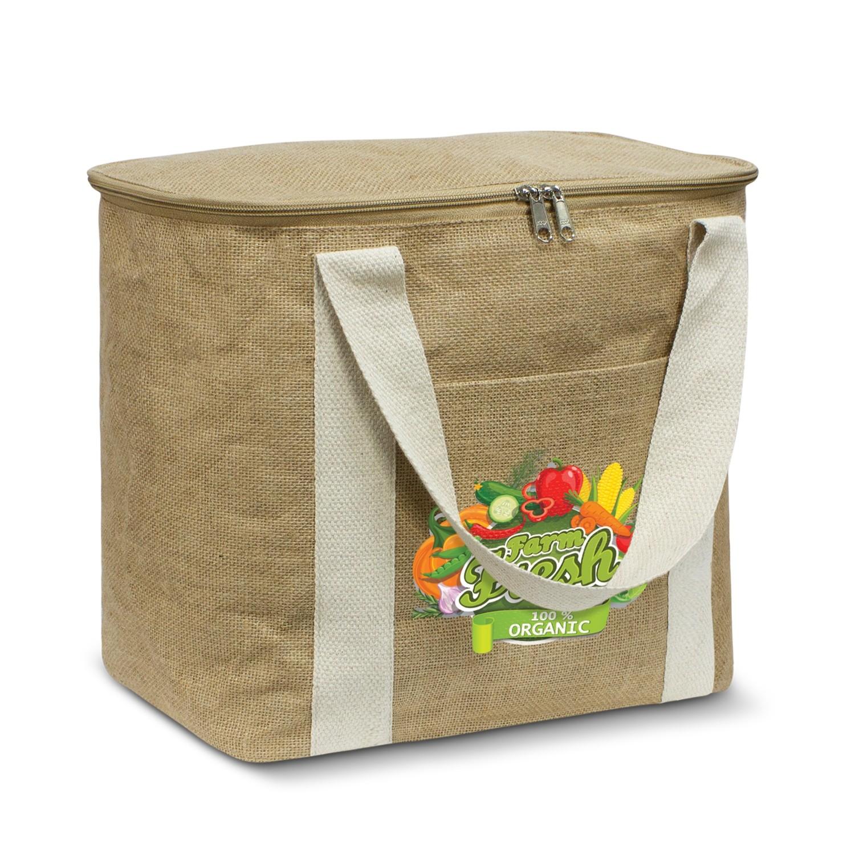 Large Jute Cooler Bag - Branded