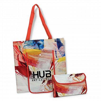 Compact Cotton Shopping Bag Open