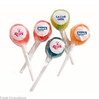 Ball Lollipop With Sticker
