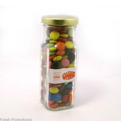 Jar Of Choc Beans With Custom Label