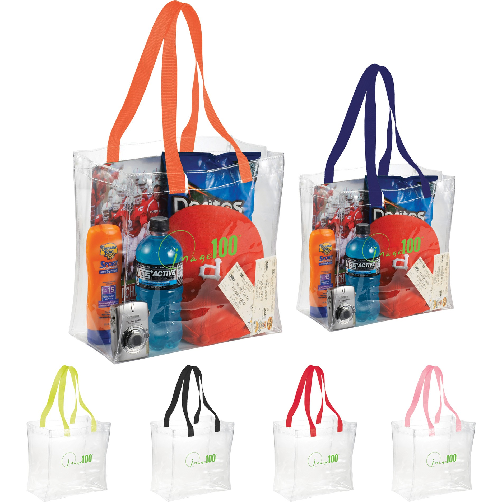 Printed Clear Tote Bag