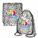 Colour Printed Drawstring Backpack