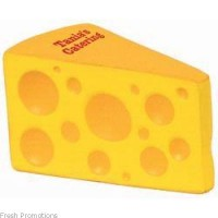 Wedge Of Cheese Stress Toys