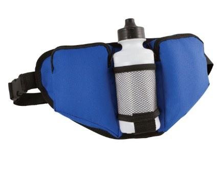 Blue Waist Bag With Bottle