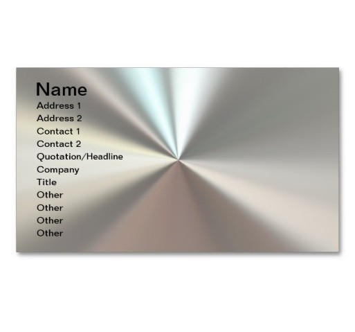 Custom Colour Printed Stainless Steel Business Cards