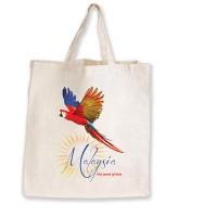 Short Handled Calico Shopping Bag