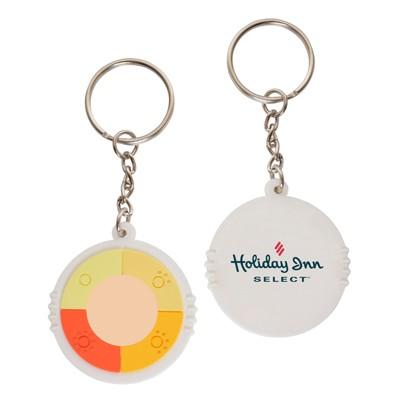 UV Medallion Keyring Branded