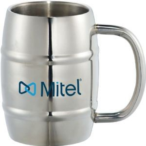Growl Stainless Barrel Mug Custom printed