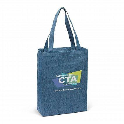 Denim Tote Bag Branded