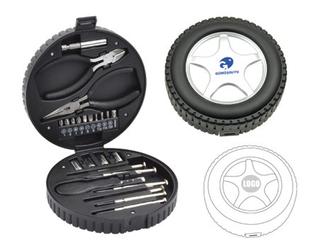 Tool Kit in Tyre Shaped Case