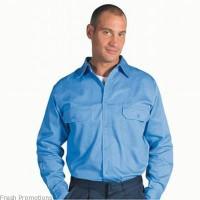 Long Sleeve Cotton Drill Work Shirt