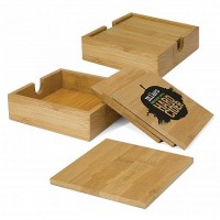 Eco Bamboo Coaster Set