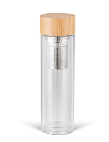 Cylinder Glass Water Bottle