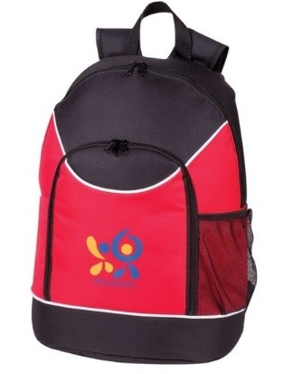 Red Contrast Sport Back Pack