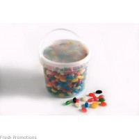 Branded Buckets of Jelly Beans
