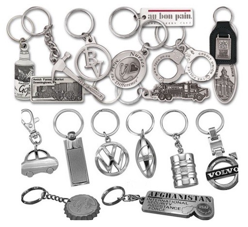 Custom Made Metal Keyrings