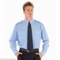 Long Sleeve Epaulette Work Shirt