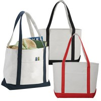 Cotton Boat Tote Bags
