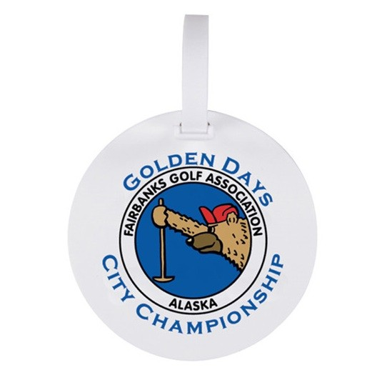 Golf Ball Shaped bag Tags