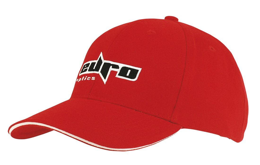 Sandwich Peak Cap Red/White