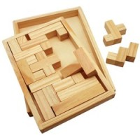 Wood Shapes Challenge Puzzle