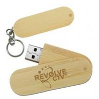 Wooden Swivel Flash Drives